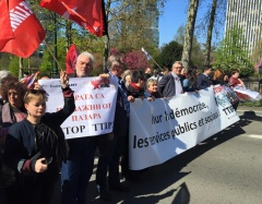 The European Left took to the streets in Brussels in the Global Action Day against TTIP, CETA y TISA